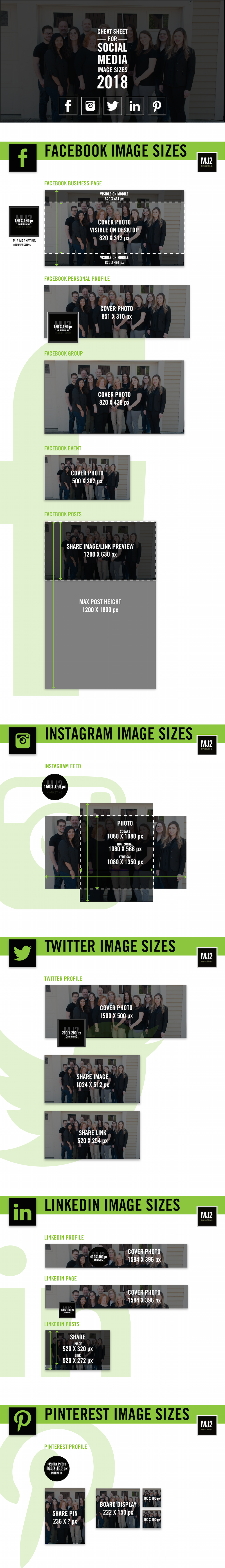 Social Media Image Size Infographic