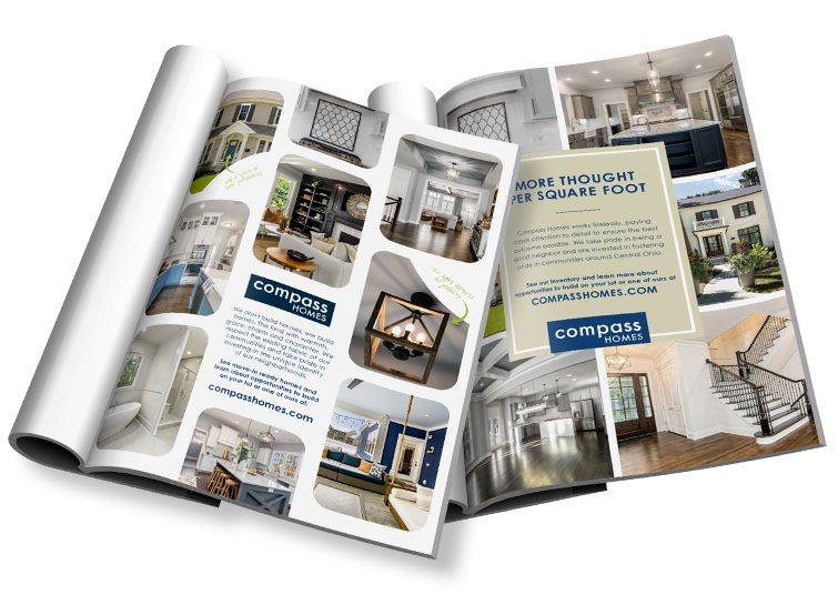 Compass Homes magazine mockup.