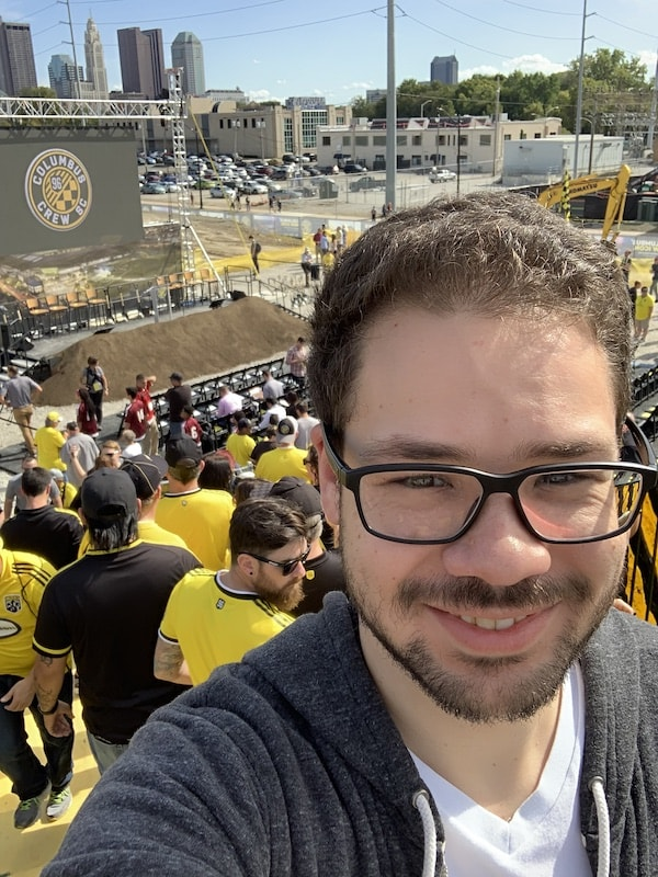Andrew Bash at a Columbus Crew event.