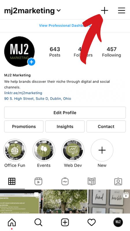 Instagram Highlights screenshot.