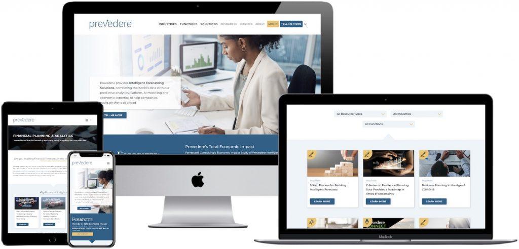 Prevedere website design and development project.