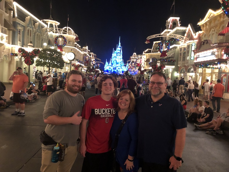 Lisa Moore with her family at Disney World.